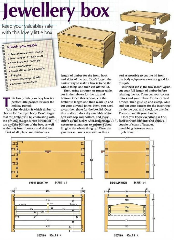 Diy Jewelry Box Woodworking Plans Woodworking